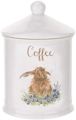 """Portmeirion Wrendale Rabbit Coffee Canister """"Bright Eyes"""""""