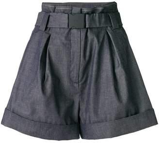 No.21 high-waisted denim shorts