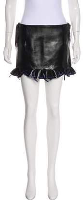 Toga Pulla Leather Mini Skirt w/ Tags