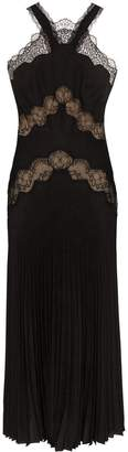 Fendi lace insert pleated gown