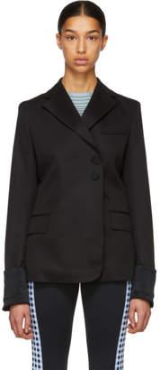 Wales Bonner Black Evening Wrap Jacket