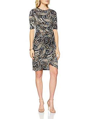Yumi Women's Paisley Print Side Knot Dress,8