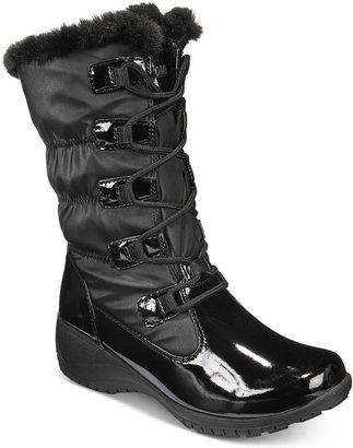 Khombu Women's Audrey Lace-Up Cold-Weather Boots $79 thestylecure.com