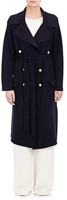 Maiyet Women's Double-Breasted Knit Trench Coat