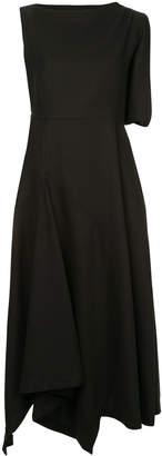 Enfold sleeveless flared midi dress