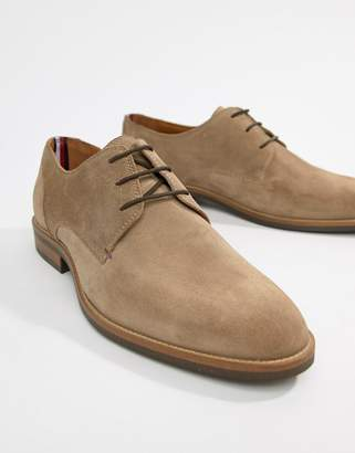 Tommy Hilfiger essential suede lace up derby in taupe grey
