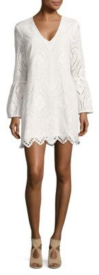 Wayf Bell-Sleeve Eyelet Tunic $119 thestylecure.com
