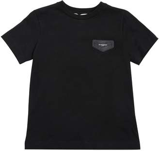 Givenchy Cotton Jersey T-Shirt With Logo Patch