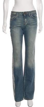 Blumarine Mid-Rise Embellished Jeans