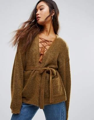 Gestuz Oba Mohair Wool Mix Short Belted Cardigan