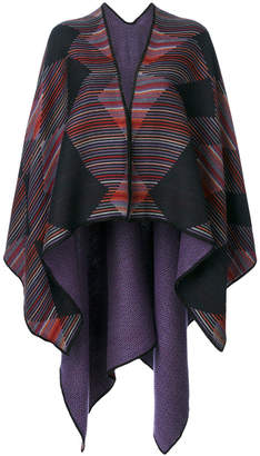 Missoni striped and geometric patterned cape
