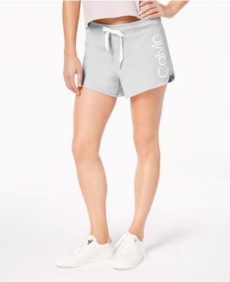 Calvin Klein Curved-Hem Logo Shorts