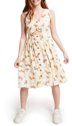 ModCloth Print Fit & Flare Dress (Regular & Plus Size)