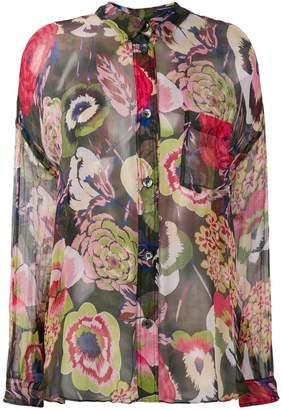 Aspesi floral sheer blouse
