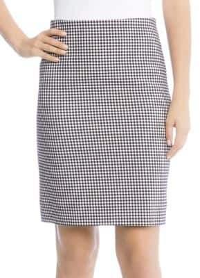 Karen Kane Gingham Pencil Skirt