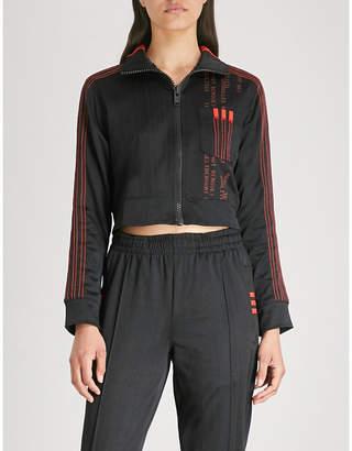 Alexander Wang Adidas X Cropped jersey jacket