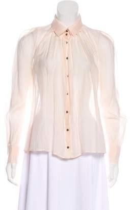 Sonia Rykiel Sheer Button-Up Top