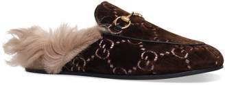 Gucci Velvet Princetown Slippers