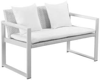 Pangea Home Chester Sofa, White Frame