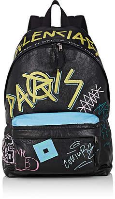 Balenciaga Men's Explorer Leather Backpack - Black