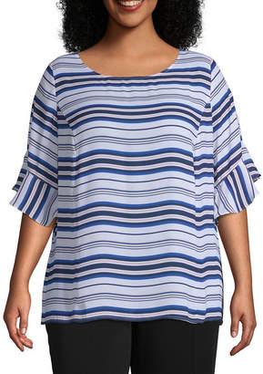 Liz Claiborne White Plus Size Tops - ShopStyle