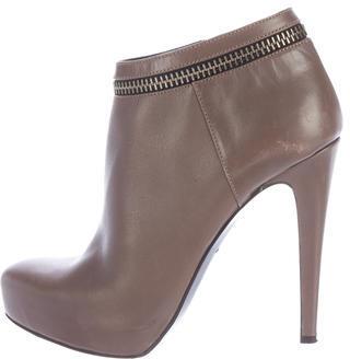 AllSaints Zipper-Trimmed Leather Booties $175 thestylecure.com