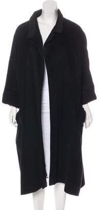 Rochas Angora & Wool Long Coat