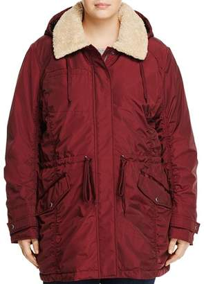 Andrew Marc Plus Nandie Sherpa Collar Parka