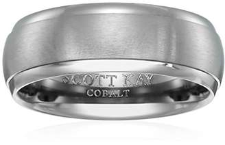 Triton Men's Scott Kay Cobalt Prime Gray Band with Sain Center and Bright Edges Wedding Bands