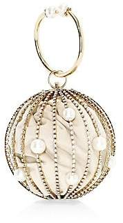 Rosantica Women's Sasha Crystal Embellished Round Bar Clutch