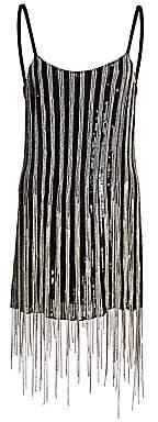 Amen Women's Embellished Fringe Mini Dress