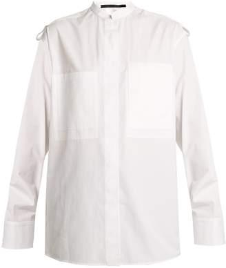 HAIDER ACKERMANN Byron military cotton shirt $494 thestylecure.com