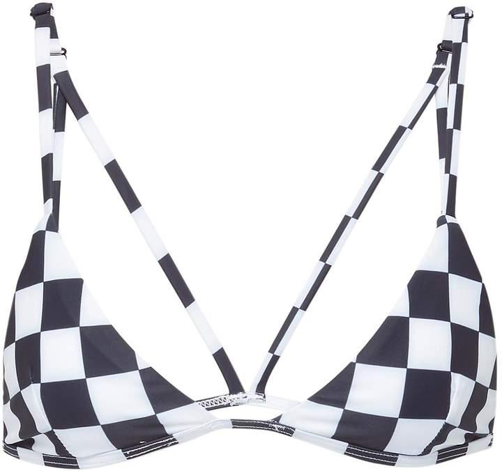 Abysse 'Dawn' checkerboard triangle bikini top