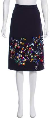 Victoria, Victoria Beckham Embellished Pencil Skirt w/ Tags