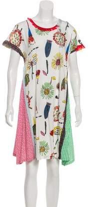Tsumori Chisato Lace-Trimmed Printed Dress