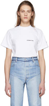 Vetements White Calendar Open Back T-Shirt