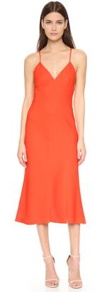 Milly Stretch Silk Bias Dress $485 thestylecure.com