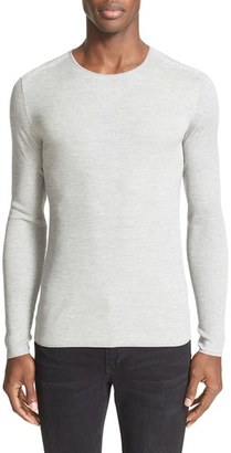 Men's John Varvatos Collection Rib Knit Silk Blend Sweater $298 thestylecure.com