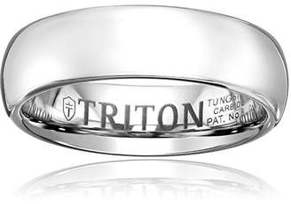 Triton Men's Tungsten 6mm Domed Comfort Fit Wedding Band
