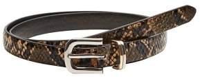 MANGO Skinny snake-effect belt