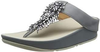 FitFlop Women's Rumba Toe-Thong Sandals Flip-Flop,6 M US