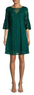 Gabby Skye Bell Sleeve Lace Shift Dress