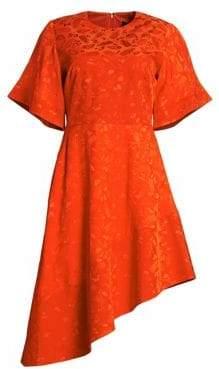 DAY Birger et Mikkelsen Brandon Maxwell Jacquard Asymmetrical A-Line Dress