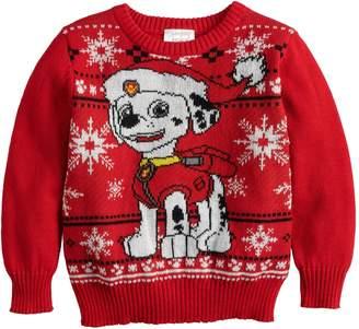 Nickelodeon Toddler Boy Jumping Beans Paw Patrol Marshall Holiday Sweater