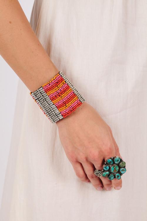 Raga Seed Bead Cuff Bracelet