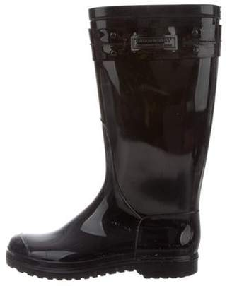 Burberry Rubber Rain Boots Black Rubber Rain Boots