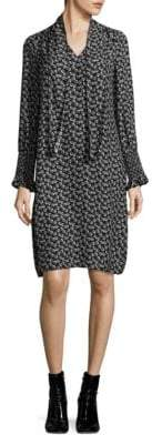 Rebecca Taylor Rue Silk Floral-Print Dress