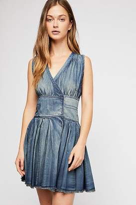 Celine Fp One FP One Denim Wrap Mini Dress