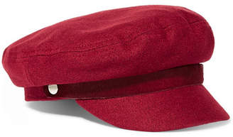 Rag & Bone Calf Hair-trimmed Wool-blend Cap - Red