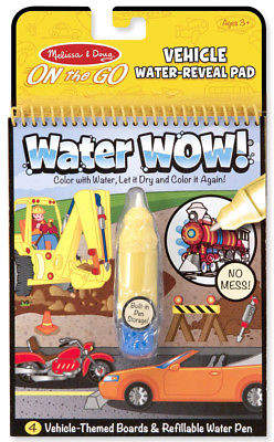 Melissa & Doug NEW Water Wow! Vehicle Colouring Pad